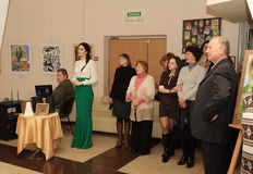 Opening of the exhibition dedicated to the celebration of Easter Royalty Free Stock Image