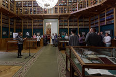 Opening of exhibition in the National Library of Russia Stock Photography