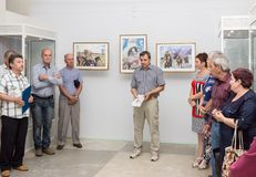 Opening of the exhibition of paintings Stock Photography