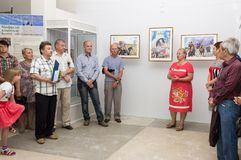 Opening of the exhibition of paintings Royalty Free Stock Image