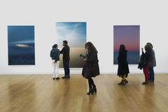 Opening of exhibition Wolfgang Tillmans - On The Verge Of Visibility Stock Images