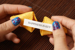 Opening A Fortune Cookie Stock Images