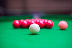 Opening frame of the snooker Royalty Free Stock Photos