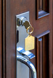 Opening front door Royalty Free Stock Images