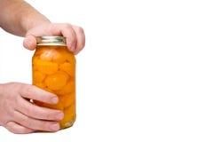 Opening a Fruit Jar Stock Image