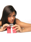 Opening A Gift Royalty Free Stock Image