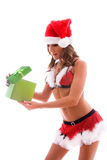 Opening gift. Royalty Free Stock Image