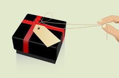 Opening a gift Stock Image