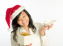 Opening Gift Royalty Free Stock Images