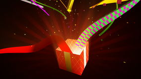 Opening gift box, 3d animation stock video footage