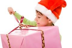 Opening giftbox Royalty Free Stock Photo