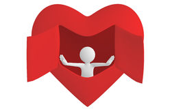 Opening heart Stock Photography