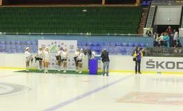 Opening of hockey championship Royalty Free Stock Image