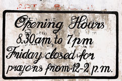Opening hours Stock Photo