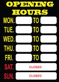 Opening Hours Royalty Free Stock Images