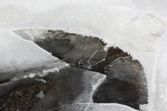 Opening of ice on the river in the spring Royalty Free Stock Photography