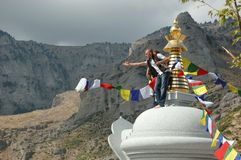 Opening of Kalachakra Stupa,Greece Royalty Free Stock Image