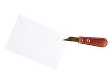 Opening Letter With A Special Knife Royalty Free Stock Photography