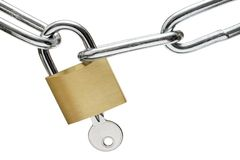 Opening the Lock Royalty Free Stock Image