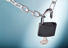 Opening the lock Royalty Free Stock Images
