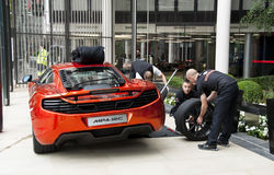 Opening of the McLaren showroom in London Royalty Free Stock Image