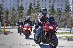 Opening of the motorcycle season Royalty Free Stock Photo