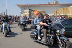 Opening of the motorcycle season in Kyiv. Stock Photo