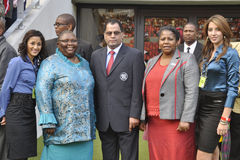 Opening of Nelson Mandela Bay Staduim. Danny Jordaan,FIFA representitive attend the opening of the Nelson Mandela Bay Staduim in Port Elizabeth in South Africa Royalty Free Stock Photos