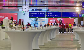 Opening of the new central station in Vienna. Preparation for the opening of the new central station in Vienna, Austria, on tenth of October, 2014 stock photography