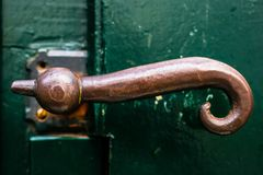 The opening of a new road begins with pulling on this door handle royalty free stock photo