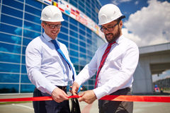 Opening newly built construction Stock Image