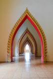 Opening passage of the temple in Thailand. Opening passage of the measure in Thailand. Art, beautiful arched doors Stock Photo