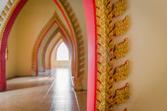 Opening passage of the temple in Thailand. Opening passage of the measure in Thailand. Art, beautiful arched doors Royalty Free Stock Image
