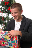 Opening Presents Royalty Free Stock Image