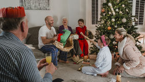Opening Presents On Christmas Morning Stock Image