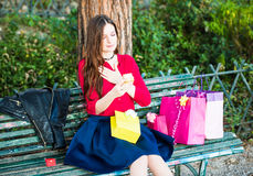 Opening presents or gifts for a special occasion Royalty Free Stock Photos