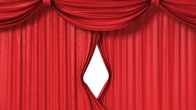 Opening red curtain Royalty Free Stock Photos