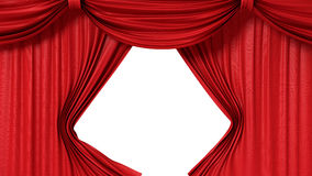 Opening red curtain Stock Photography