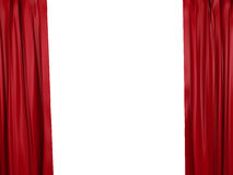 Opening red curtain. Place for text Royalty Free Stock Image