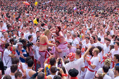 At opening of San Fermin festival Royalty Free Stock Photos