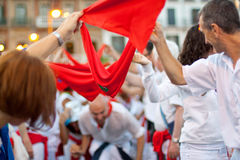 At opening of San Fermin festival Stock Photography