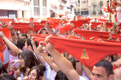 Opening of the San Fermin festival in Pamplona Stock Image