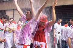Opening of the San Fermin festival in Pamplona Stock Photo