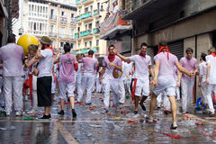 Opening of the San Fermin festival in Pamplona Royalty Free Stock Photography