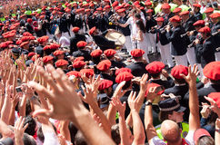 Opening of the San Fermin festival in Pamplona Stock Photos