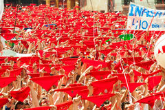 Opening of San Fermin Festival Royalty Free Stock Images