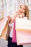 Opening shopping season. Stock Photo