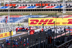 Opening in Sochi for the Russian Grand Prix. Sochi, Russia -12 November 2014 : Formula One, Russian Grand Prix, Sochi autodrom , 16 stage Royalty Free Stock Photography