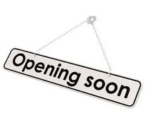 Opening soon banner Stock Images