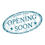 Opening soon grunge rubber stamp Stock Photography